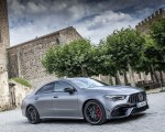 2020 Mercedes-AMG CLA 45 (Color: Designo Mountain Gray Magno) Front Three-Quarter Wallpapers 150x120 (43)