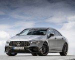 2020 Mercedes-AMG CLA 45 (Color: Designo Mountain Gray Magno) Front Three-Quarter Wallpapers 150x120 (28)