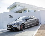 2020 Mercedes-AMG CLA 45 (Color: Designo Mountain Gray Magno) Front Three-Quarter Wallpapers 150x120 (42)