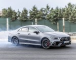 2020 Mercedes-AMG CLA 45 (Color: Designo Mountain Gray Magno) Front Three-Quarter Wallpapers 150x120 (20)