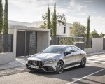 2020 Mercedes-AMG CLA 45 (Color: Designo Mountain Gray Magno) Front Three-Quarter Wallpapers 150x120 (31)