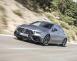 2020 Mercedes-AMG CLA 45 (Color: Designo Mountain Gray Magno) Front Three-Quarter Wallpapers 150x120 (32)