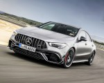 2020 Mercedes-AMG CLA 45 (Color: Designo Mountain Gray Magno) Front Three-Quarter Wallpapers 150x120 (22)