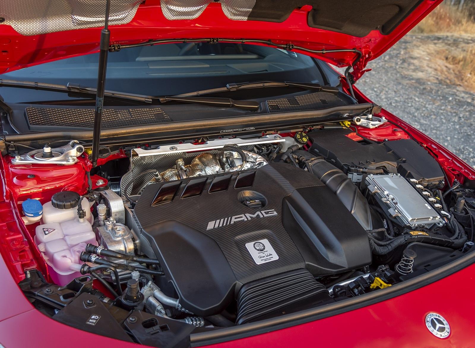 2020 Mercedes-AMG CLA 45 (Color: Jupiter Red) Engine Wallpapers (13)