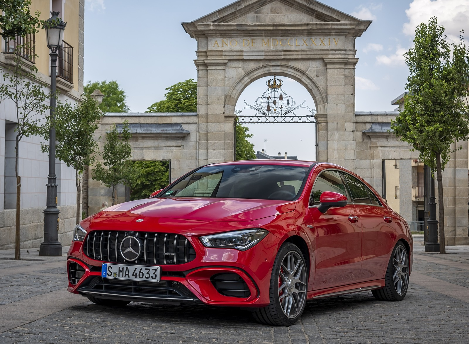 2020 Mercedes-AMG CLA 45 (Color: Jupiter Red) Front Three-Quarter Wallpapers (4)