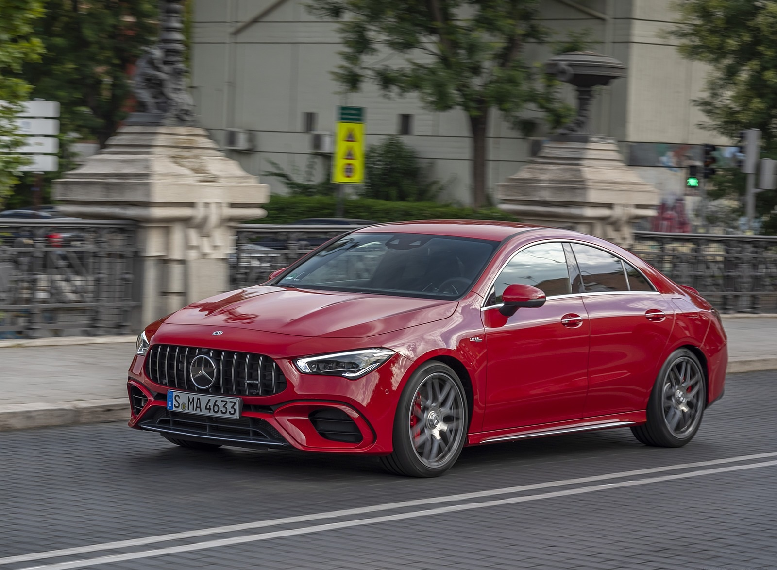 2020 Mercedes-AMG CLA 45 (Color: Jupiter Red) Front Three-Quarter Wallpapers (2)