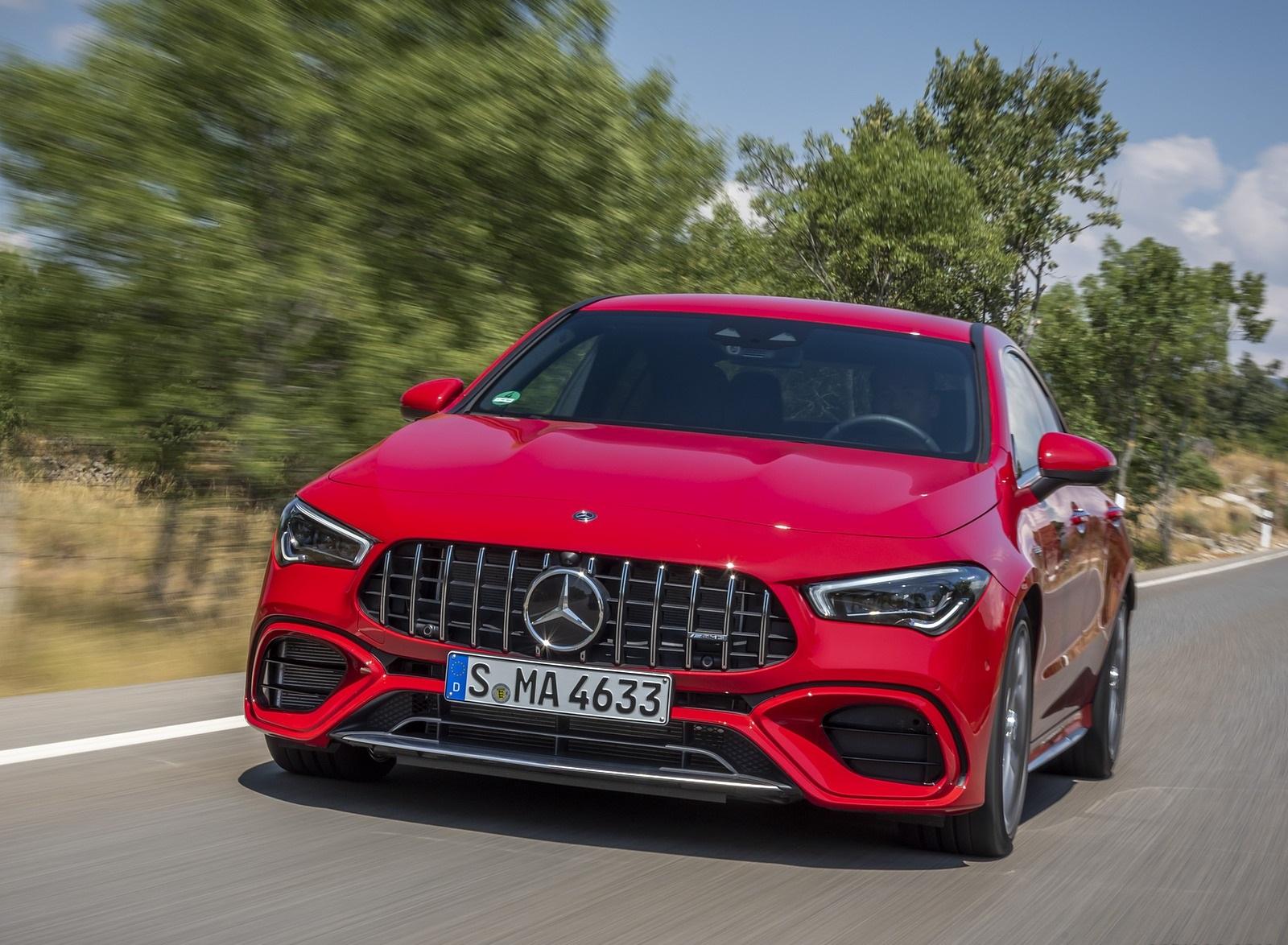 2020 Mercedes-AMG CLA 45 (Color: Jupiter Red) Front Wallpapers (1)