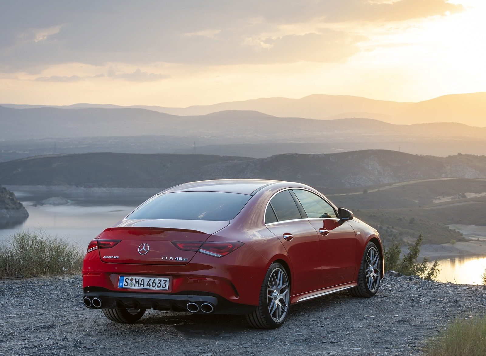 2020 Mercedes-AMG CLA 45 (Color: Jupiter Red) Rear Three-Quarter Wallpapers (7)