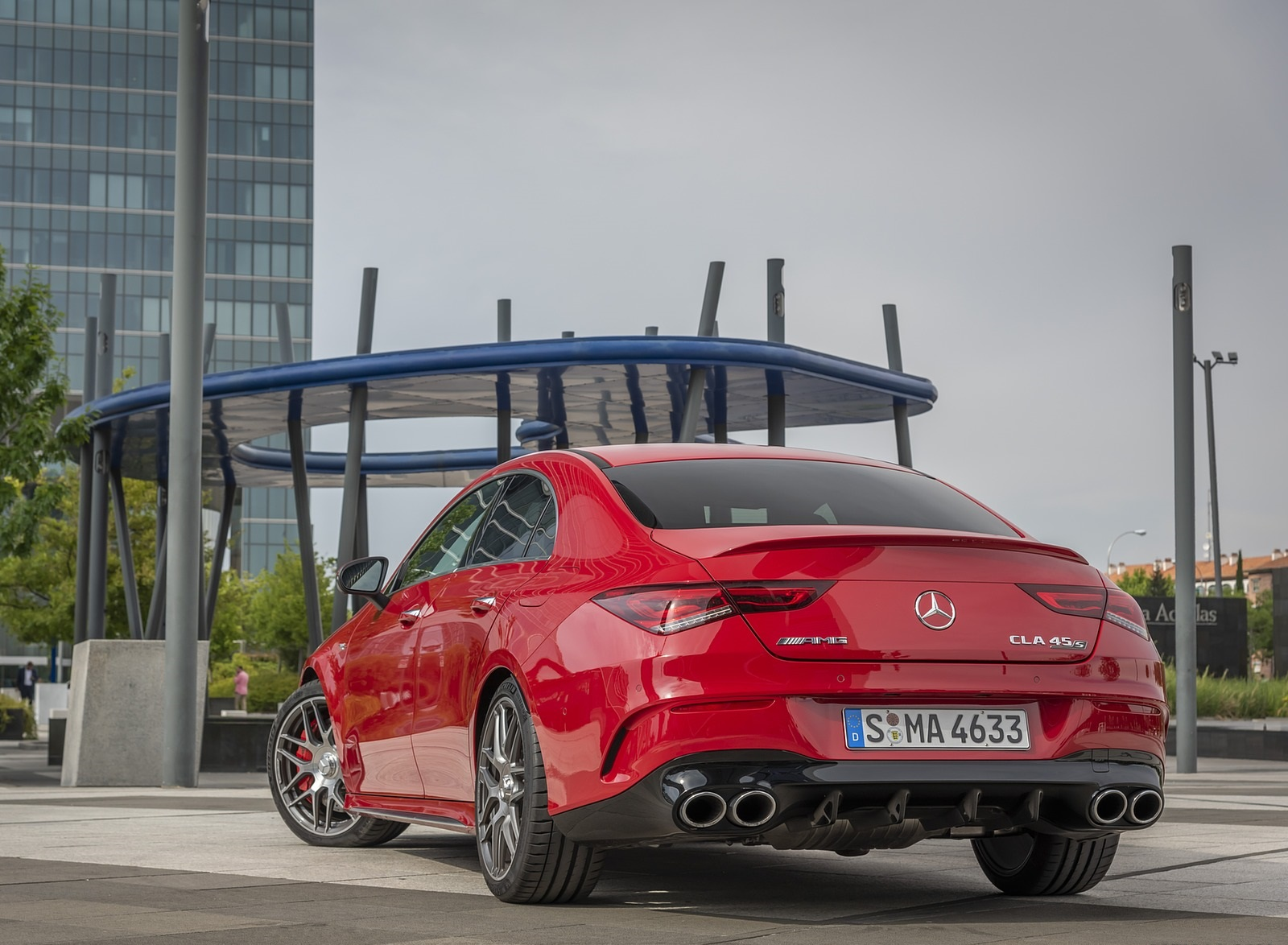 2020 Mercedes-AMG CLA 45 (Color: Jupiter Red) Rear Three-Quarter Wallpapers (8)