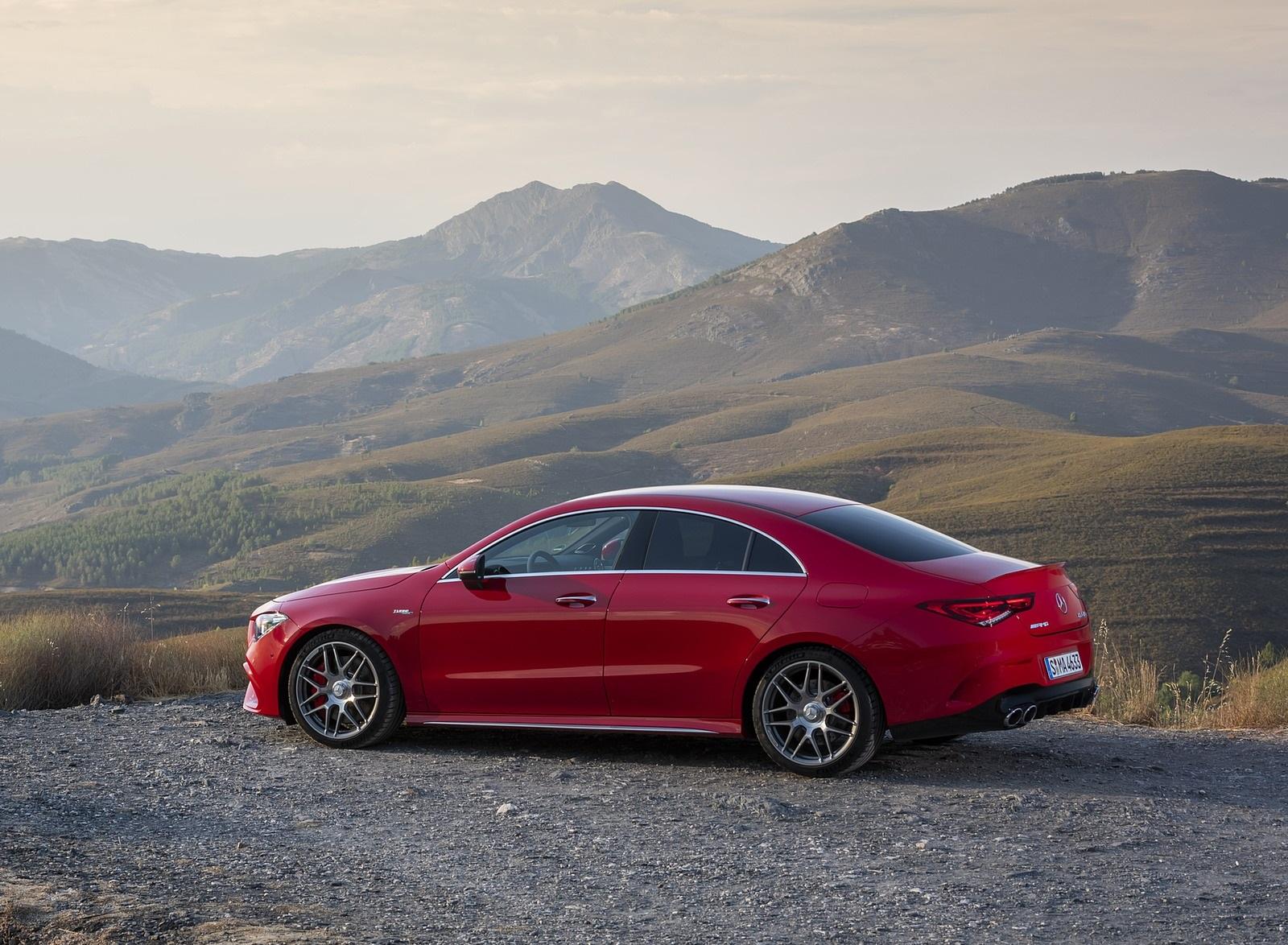2020 Mercedes-AMG CLA 45 (Color: Jupiter Red) Side Wallpapers (10)