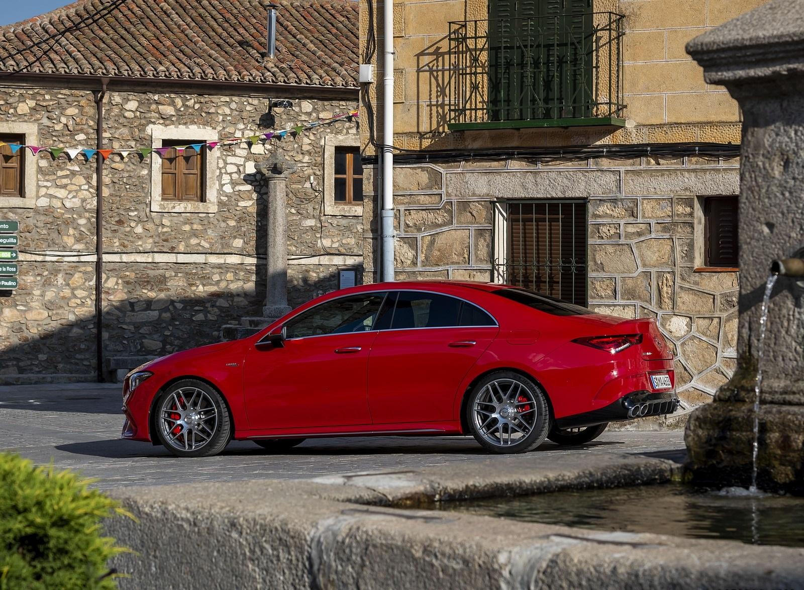 2020 Mercedes-AMG CLA 45 (Color: Jupiter Red) Side Wallpapers (11)