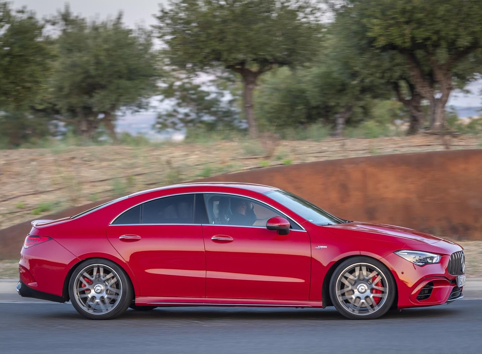 2020 Mercedes-AMG CLA 45 (Color: Jupiter Red) Side Wallpapers (3)
