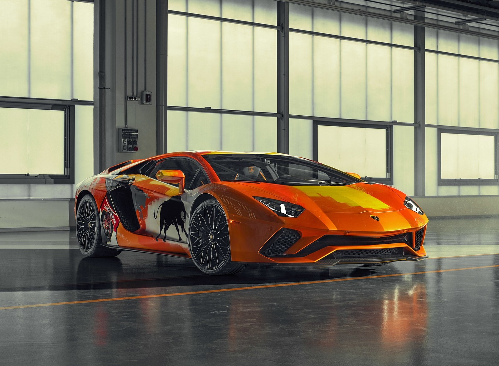 2019 Lamborghini Aventador S by Skyler Grey Front Three-Quarter Wallpapers (1)