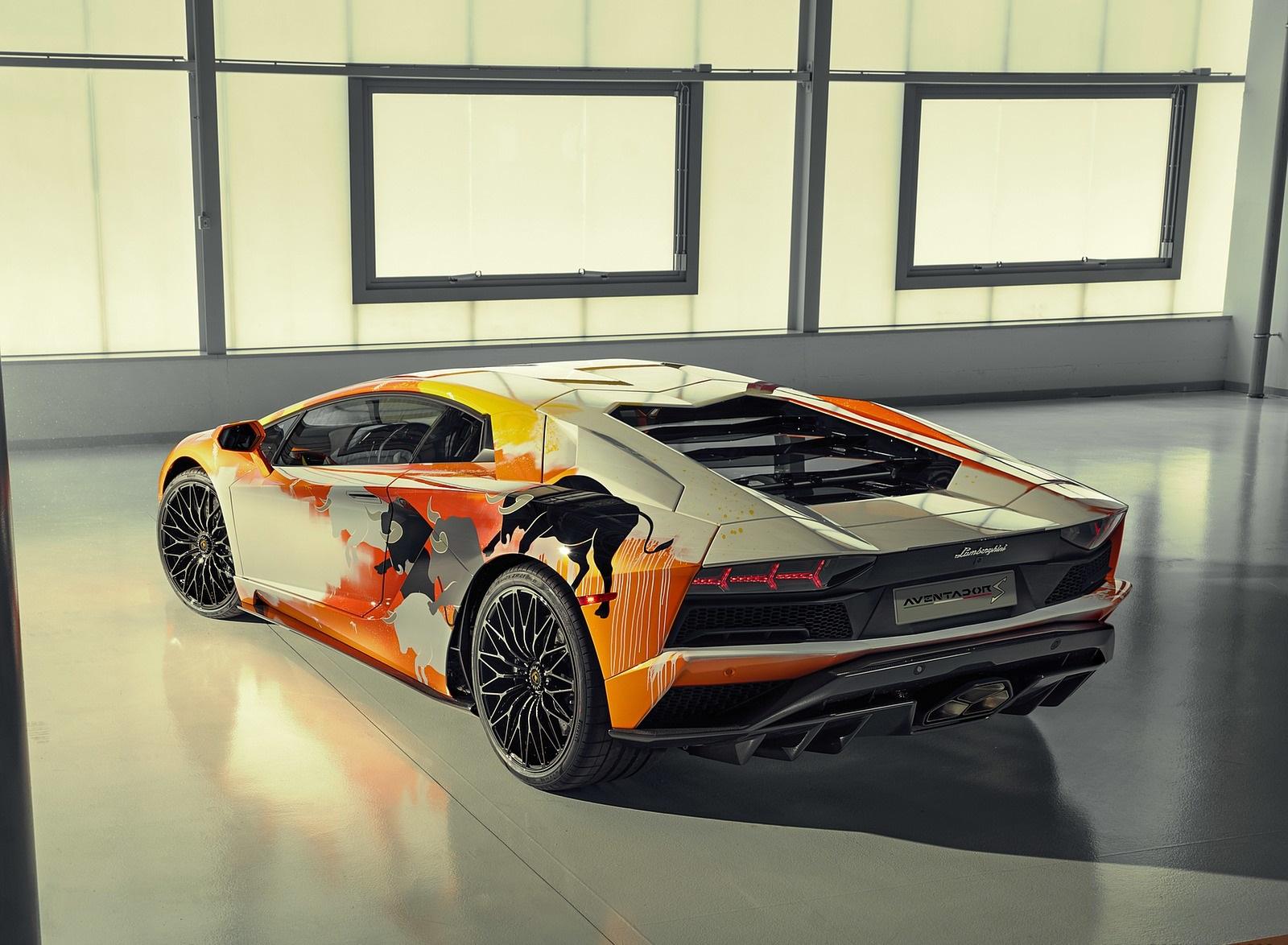 2019 Lamborghini Aventador S by Skyler Grey Rear Three-Quarter Wallpapers (10)