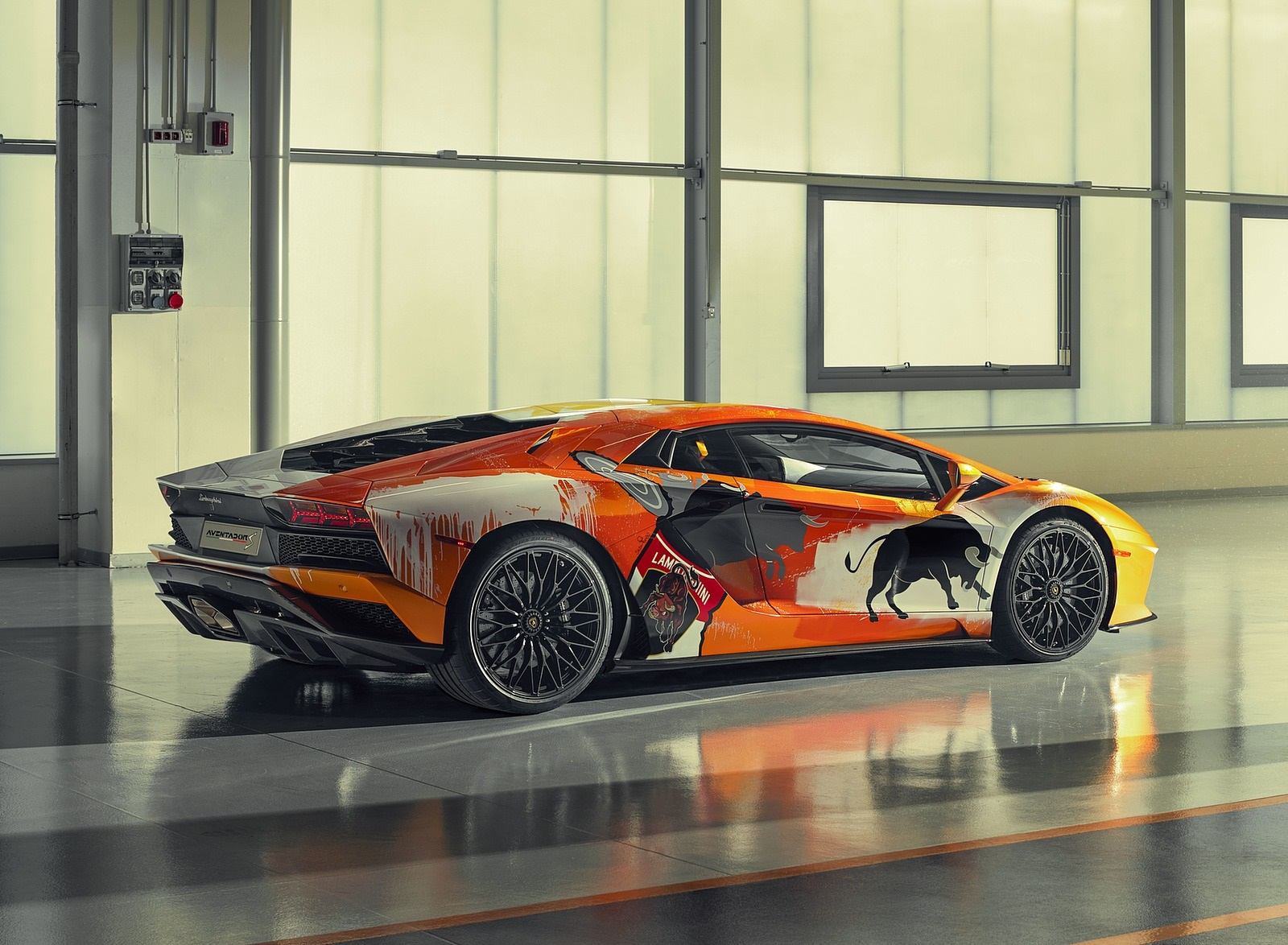 2019 Lamborghini Aventador S by Skyler Grey Rear Three-Quarter Wallpapers (3)