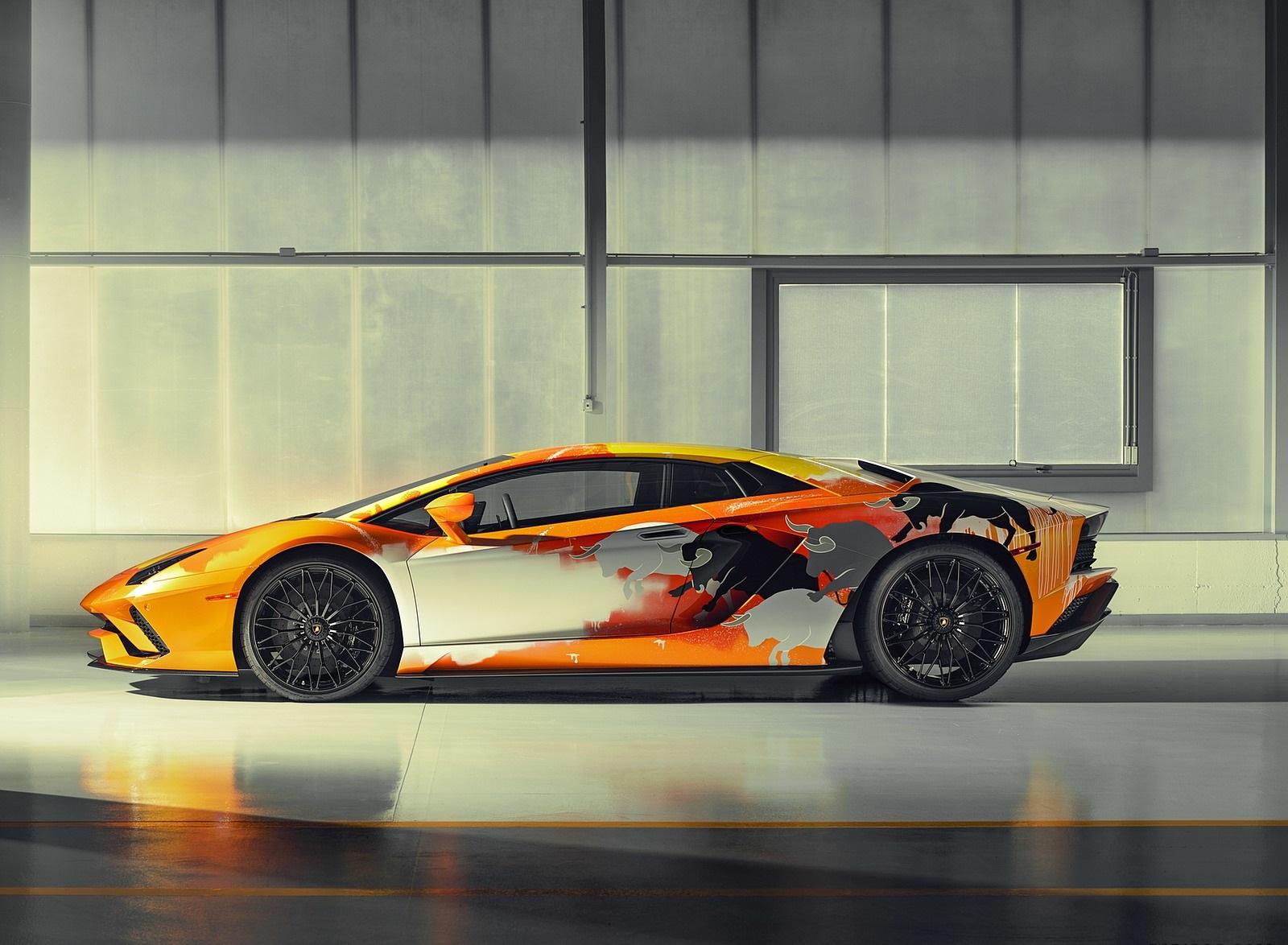 2019 Lamborghini Aventador S by Skyler Grey Side Wallpapers (4)