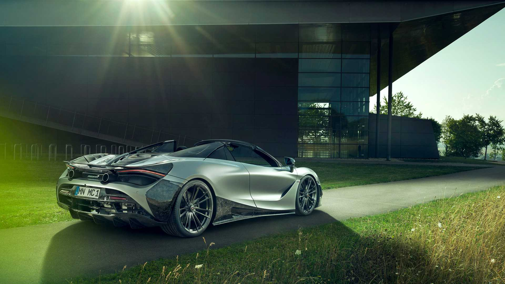 2019 NOVITEC McLaren 720S Spider Rear Three-Quarter Wallpapers (5)