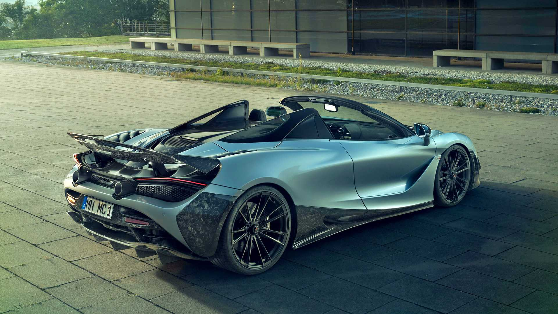 2019 NOVITEC McLaren 720S Spider Rear Three-Quarter Wallpapers (7)