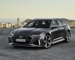 2020 Audi RS 6 Avant (Color: Daytona Gray Matt) Front Three-Quarter Wallpapers 150x120 (40)