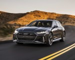 2020 Audi RS 6 Avant (Color: Daytona Gray Matt) Front Three-Quarter Wallpapers 150x120 (21)