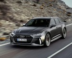 2020 Audi RS 6 Avant (Color: Daytona Gray Matt) Front Three-Quarter Wallpapers 150x120 (35)