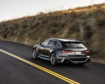 2020 Audi RS 6 Avant (Color: Daytona Gray Matt) Rear Three-Quarter Wallpapers 150x120 (26)