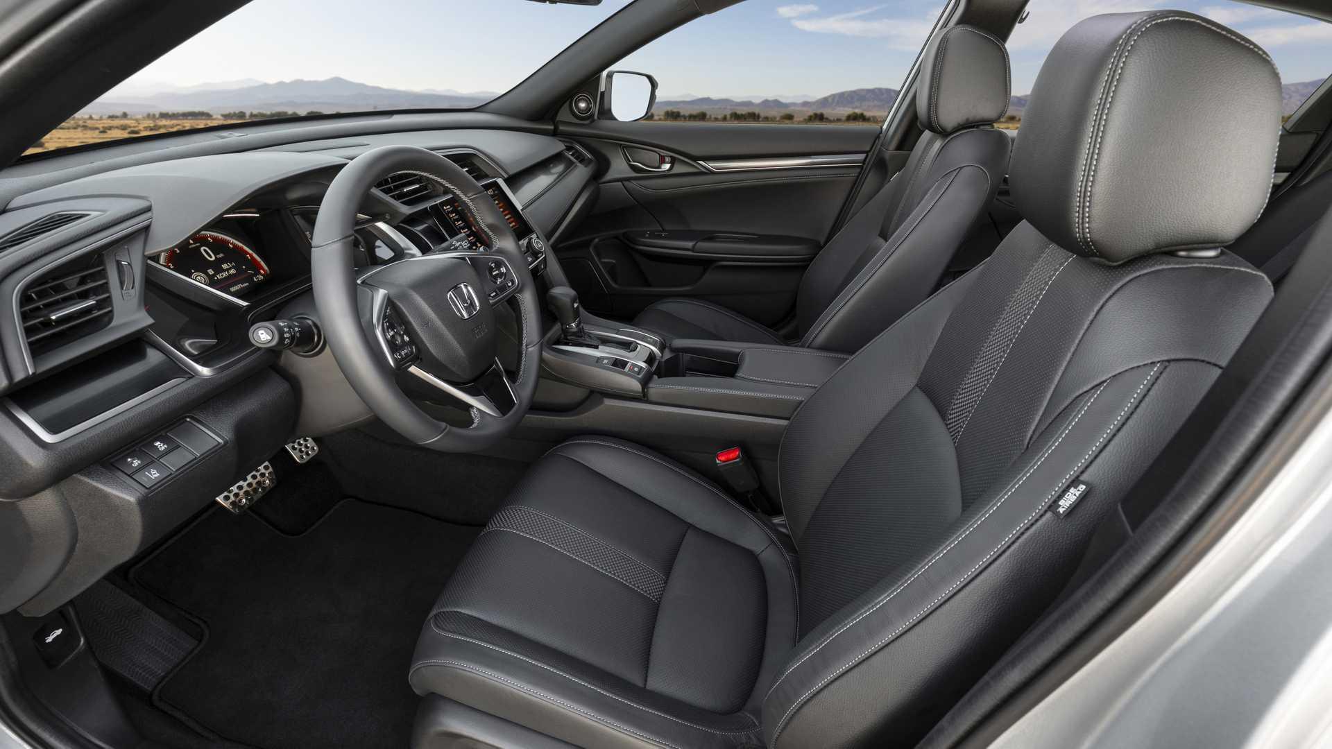 2020 Honda Civic Hatchback Interior Front Seats Wallpapers (8)