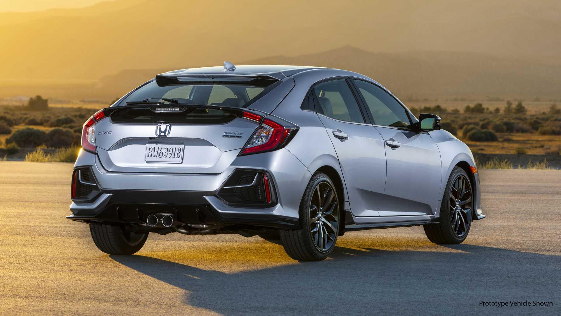 2020 Honda Civic Hatchback Rear Three-Quarter Wallpapers (4)