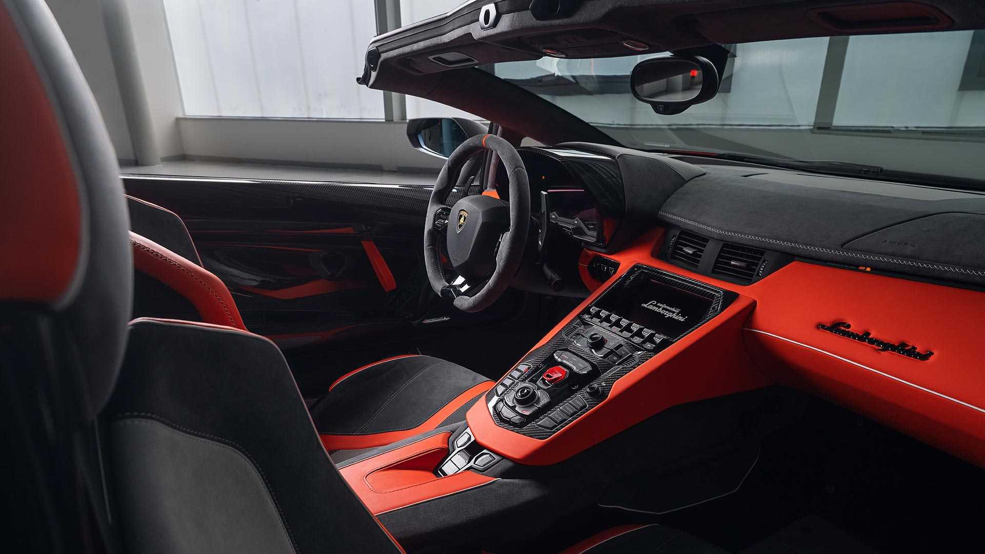 2020 Lamborghini Aventador SVJ 63 Roadster Interior Wallpapers (11)