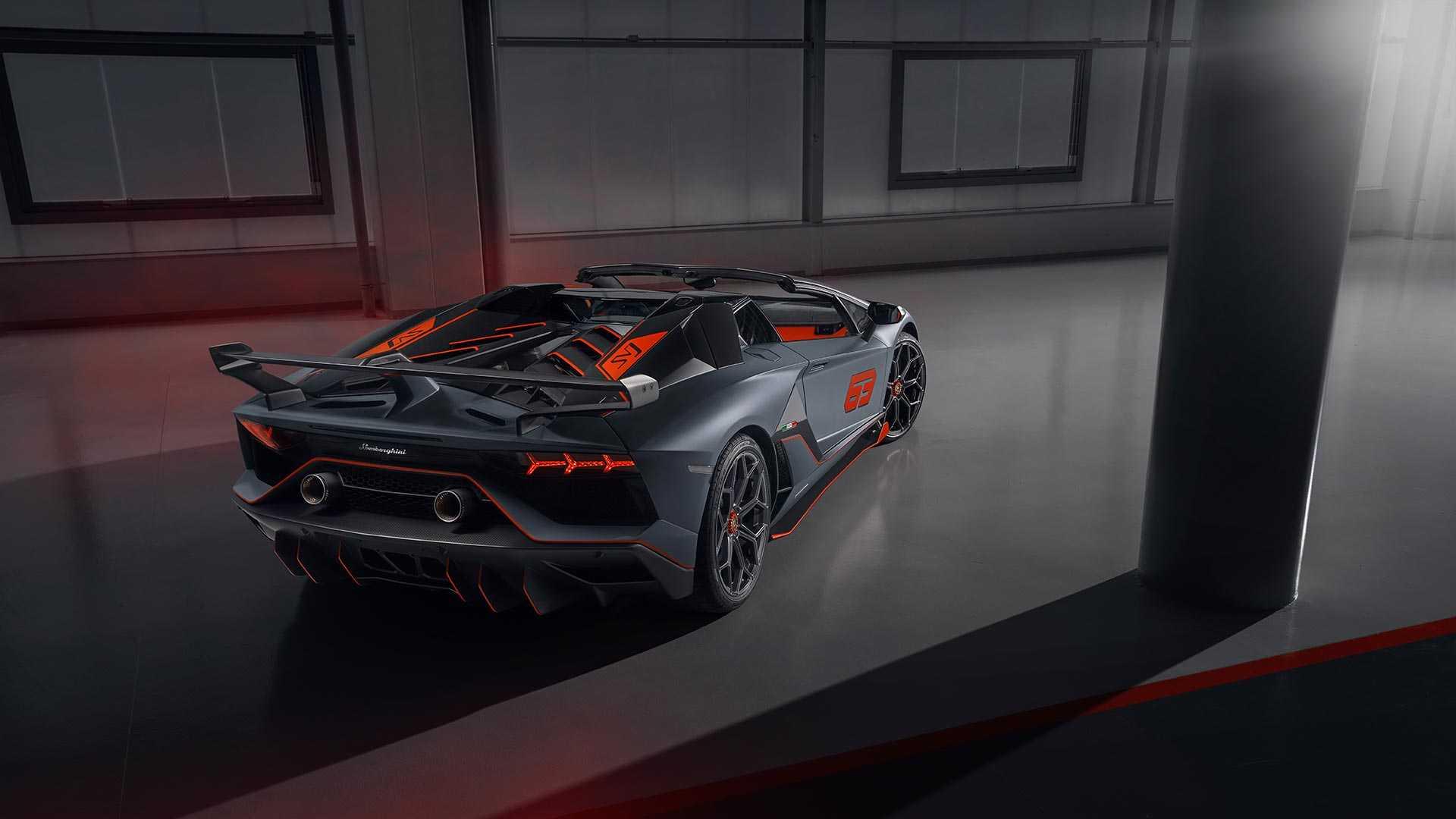 2020 Lamborghini Aventador SVJ 63 Roadster Rear Three-Quarter Wallpapers (4)