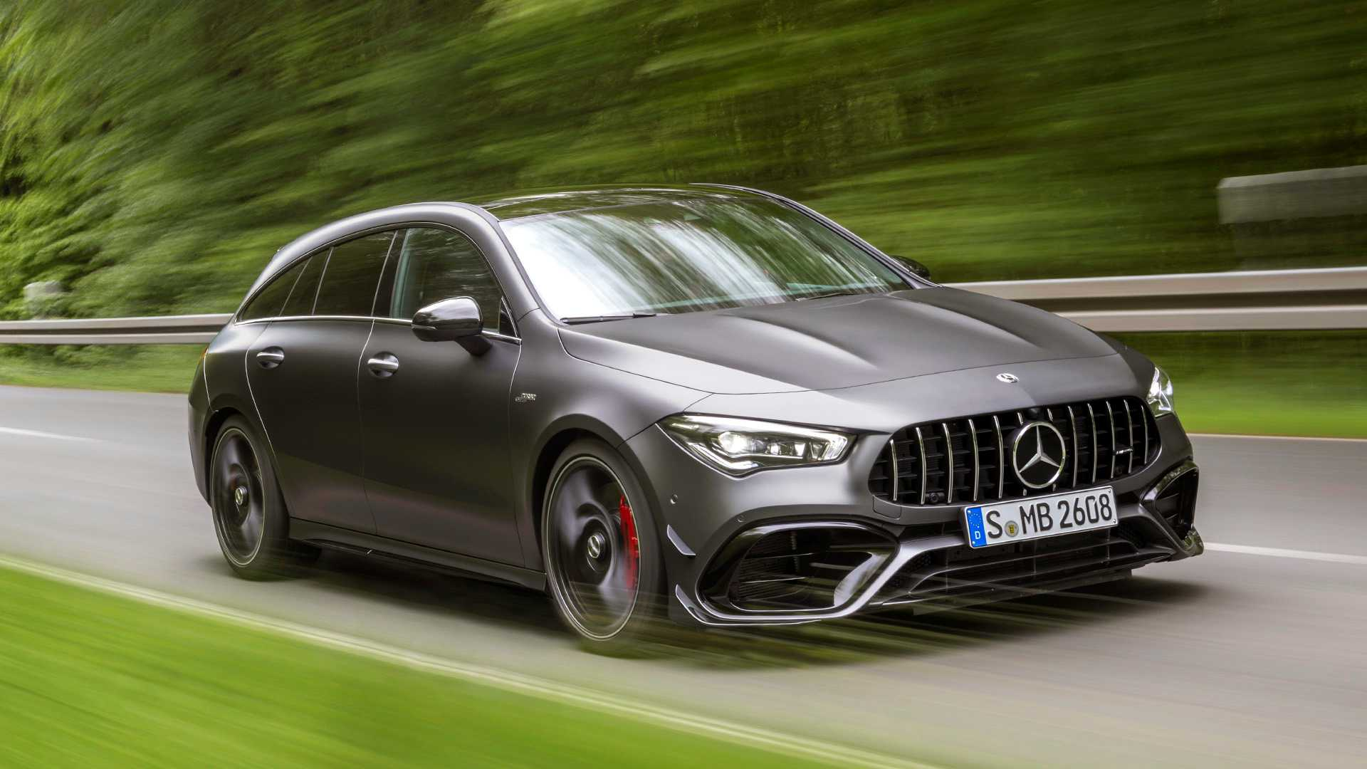 2020 Mercedes-AMG CLA 45 S 4MATIC+ Shooting Brake Front Three-Quarter Wallpapers (1)