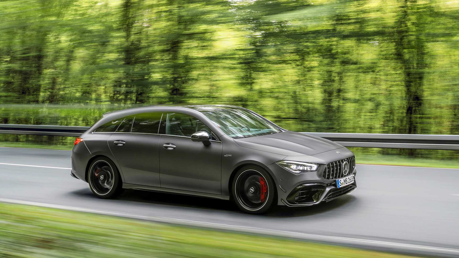 2020 Mercedes-AMG CLA 45 S 4MATIC+ Shooting Brake Front Three-Quarter Wallpapers (3)