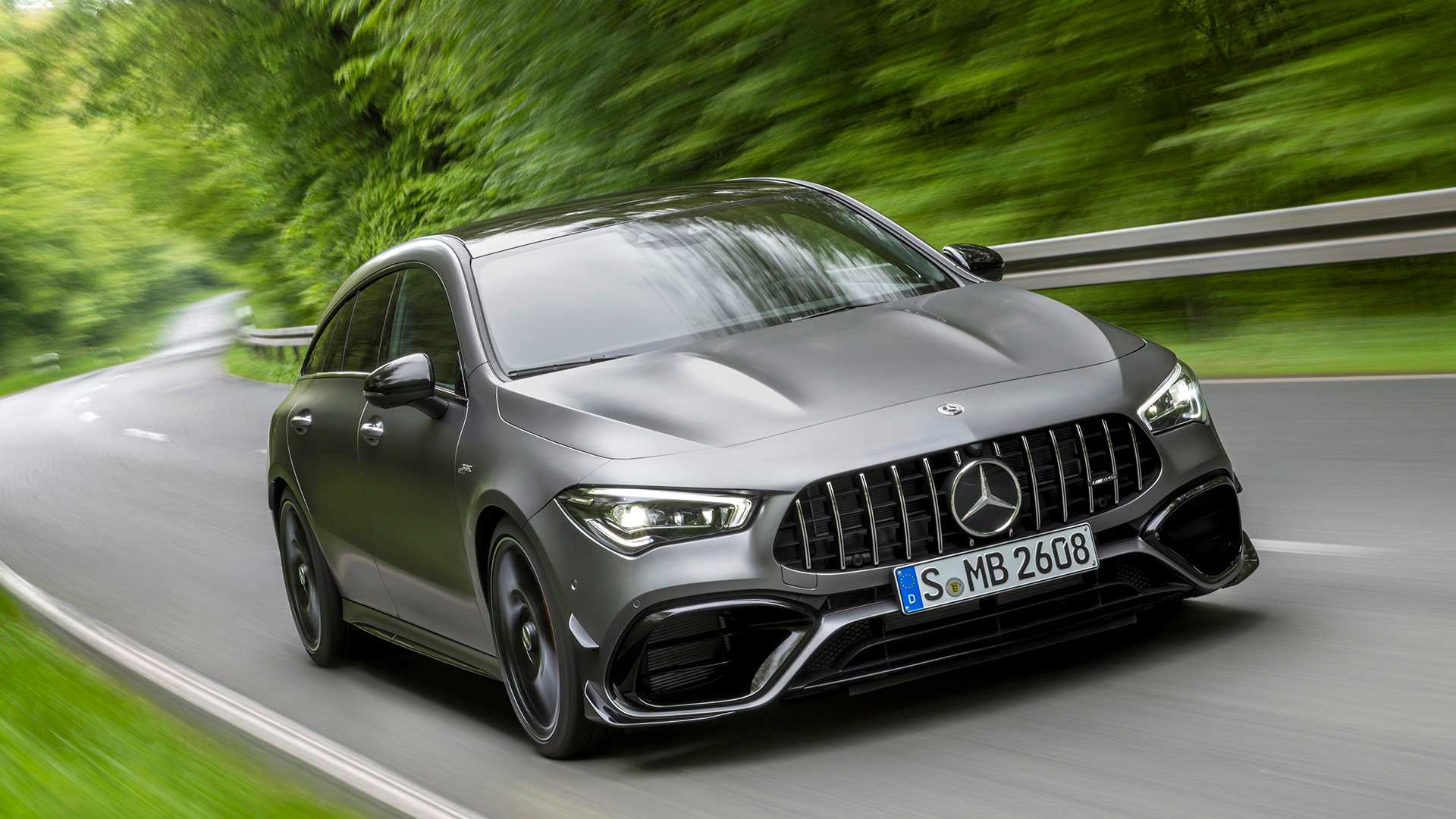2020 Mercedes-AMG CLA 45 S 4MATIC+ Shooting Brake Front Wallpapers (4)