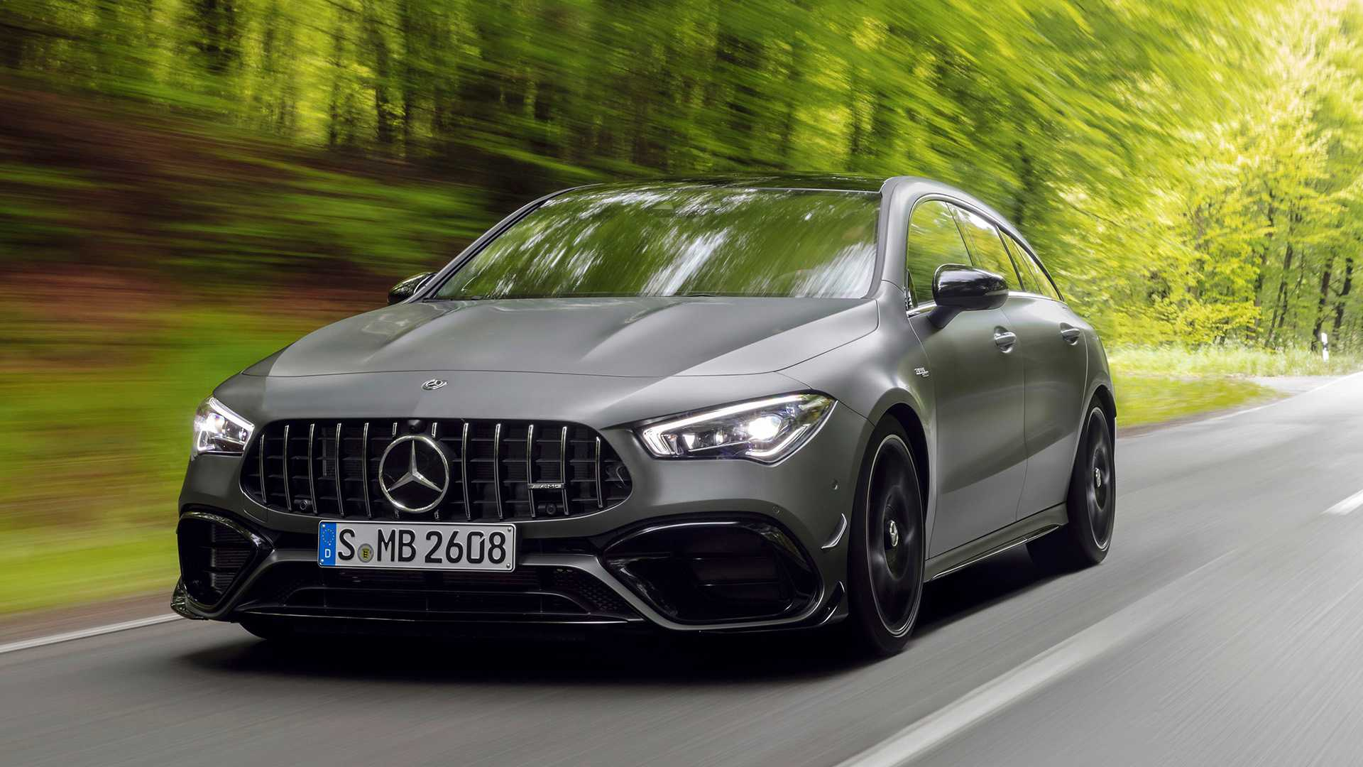2020 Mercedes-AMG CLA 45 S 4MATIC+ Shooting Brake Front Wallpapers (5)