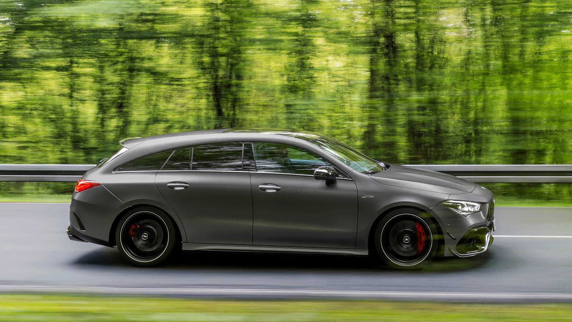 2020 Mercedes-AMG CLA 45 S 4MATIC+ Shooting Brake Side Wallpapers (7)