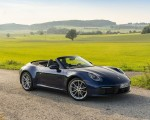 2020 Porsche 911 Carrera Cabriolet (Color: Gentian Blue Metallic) Front Three-Quarter Wallpapers 150x120 (34)