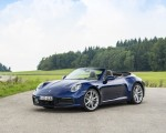 2020 Porsche 911 Carrera Cabriolet (Color: Gentian Blue Metallic) Front Three-Quarter Wallpapers 150x120 (22)