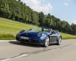 2020 Porsche 911 Carrera Cabriolet (Color: Gentian Blue Metallic) Front Three-Quarter Wallpapers 150x120 (10)