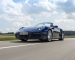 2020 Porsche 911 Carrera Cabriolet (Color: Gentian Blue Metallic) Front Three-Quarter Wallpapers 150x120 (1)