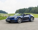 2020 Porsche 911 Carrera Cabriolet (Color: Gentian Blue Metallic) Front Three-Quarter Wallpapers 150x120 (23)