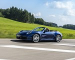 2020 Porsche 911 Carrera Cabriolet (Color: Gentian Blue Metallic) Front Three-Quarter Wallpapers 150x120 (11)