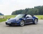 2020 Porsche 911 Carrera Cabriolet (Color: Gentian Blue Metallic) Front Three-Quarter Wallpapers 150x120 (27)