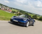 2020 Porsche 911 Carrera Cabriolet (Color: Gentian Blue Metallic) Front Three-Quarter Wallpapers 150x120 (2)
