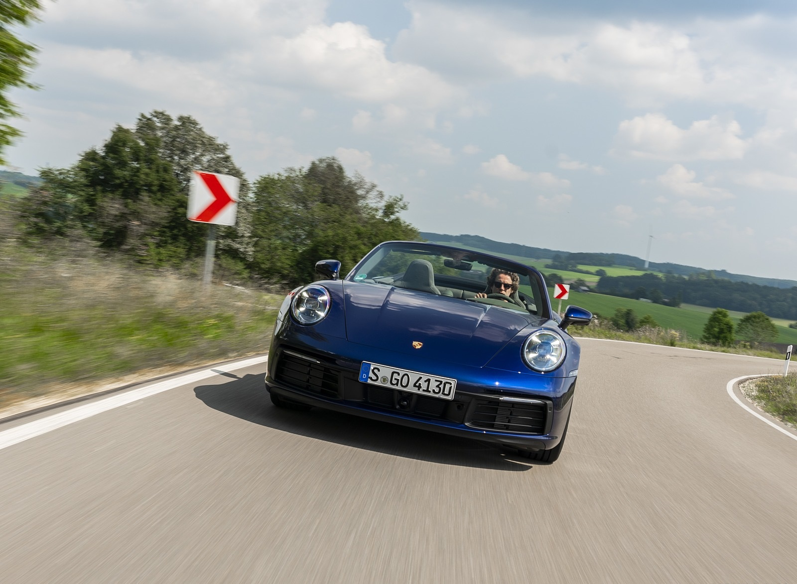 2020 Porsche 911 Carrera Cabriolet (Color: Gentian Blue Metallic) Front Wallpapers (3)