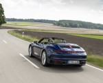 2020 Porsche 911 Carrera Cabriolet (Color: Gentian Blue Metallic) Rear Three-Quarter Wallpapers 150x120 (6)