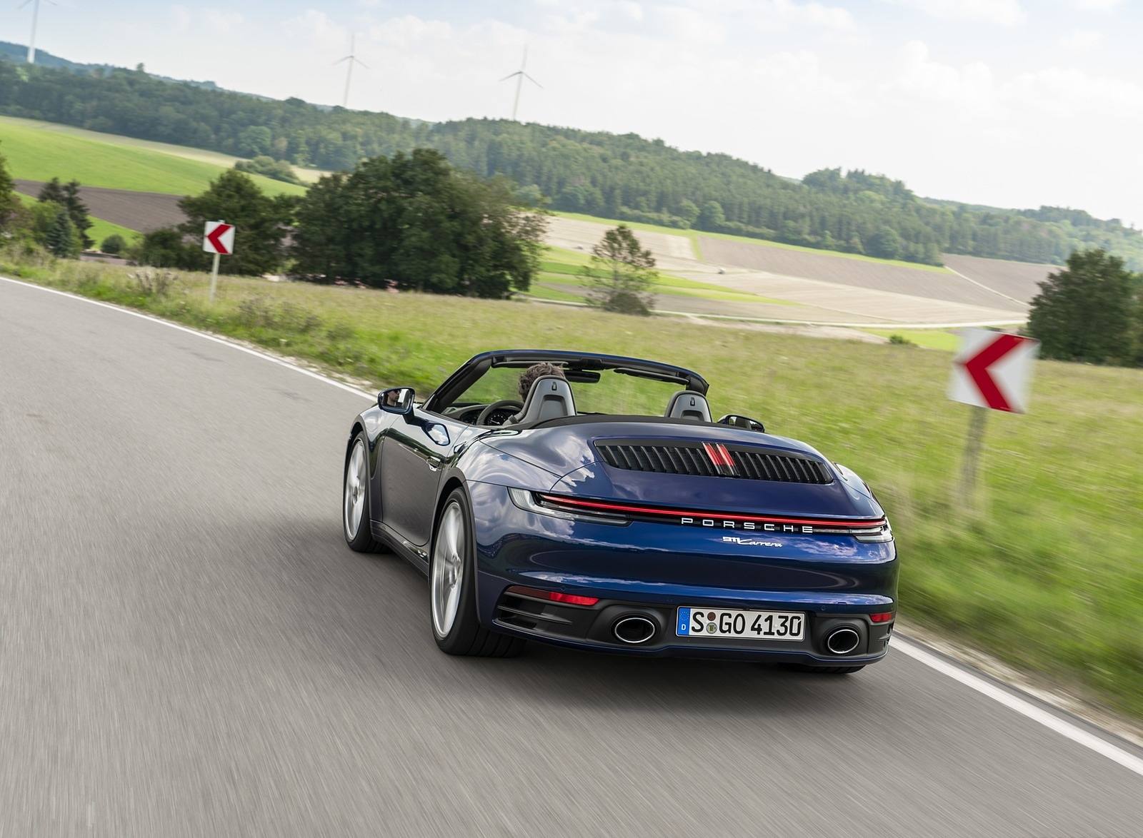 2020 Porsche 911 Carrera Cabriolet (Color: Gentian Blue Metallic) Rear Wallpapers (7)