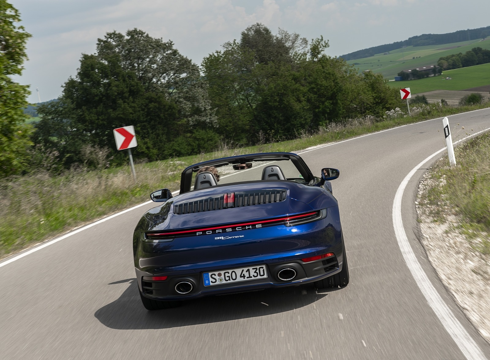 2020 Porsche 911 Carrera Cabriolet (Color: Gentian Blue Metallic) Rear Wallpapers (9)