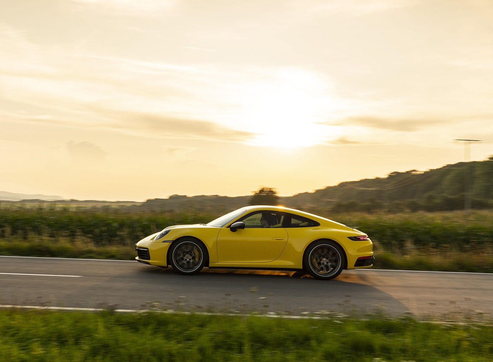 2020 Porsche 911 Carrera Coupe Color Racing Yellow Side Wallpapers 102 Newcarcars
