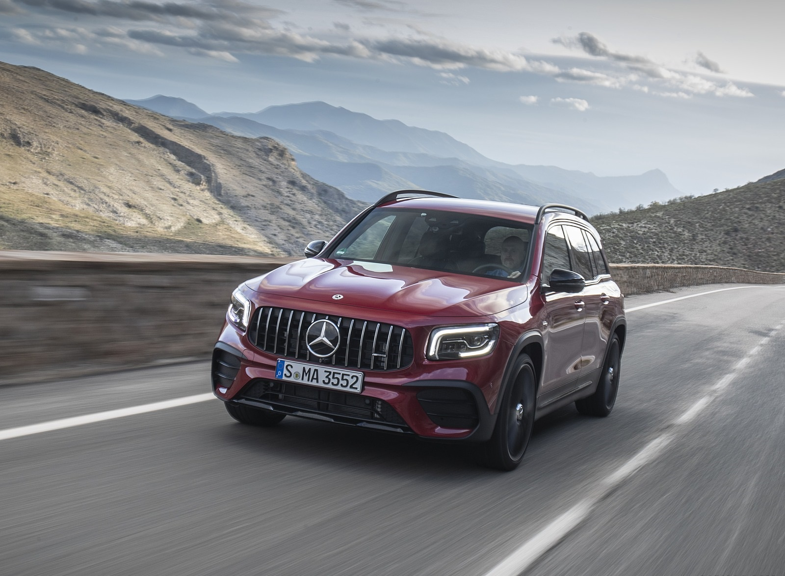 2021 Mercedes-AMG GLB 35 4MATIC (Color: Designo Patagonia Red Metallic) Front Wallpapers (1)
