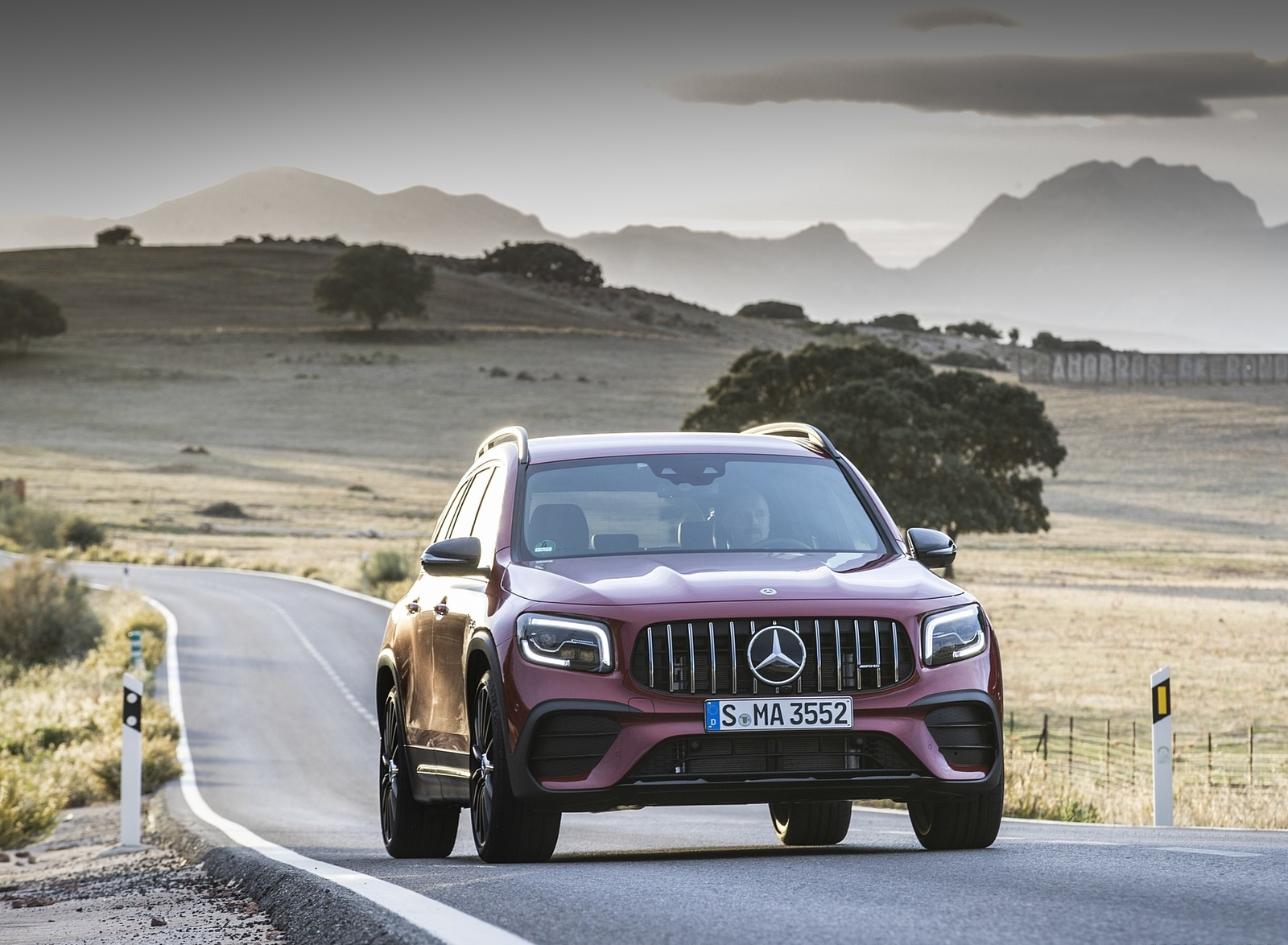 2021 Mercedes-AMG GLB 35 4MATIC (Color: Designo Patagonia Red Metallic) Front Wallpapers (5)